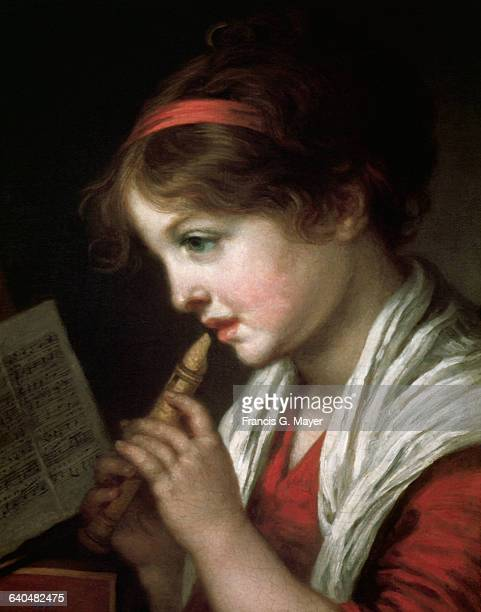 Girl with Flute by JeanBaptiste Greuze