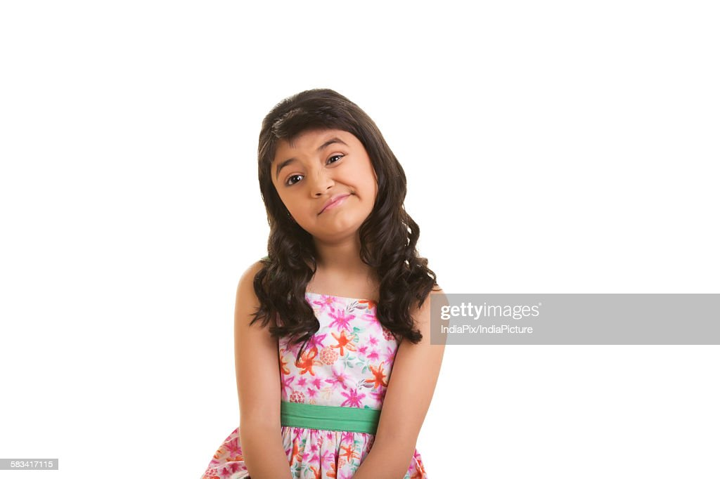 Girl with fussy expression : Stock Photo