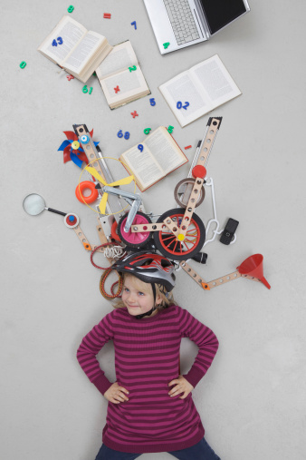 Girl with gadgets - gettyimageskorea