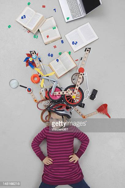 Girl with gadgets