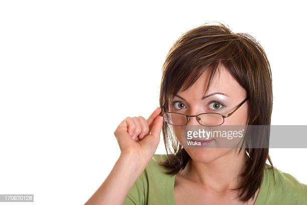 Fille avec des lunettes