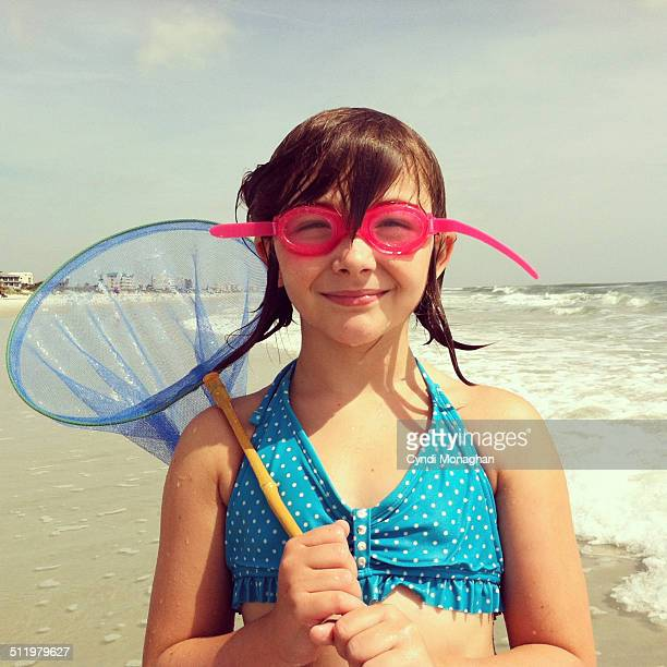 Girl with Goggles and a Net