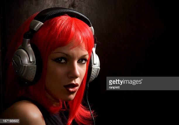 少女とヘッドフォン
