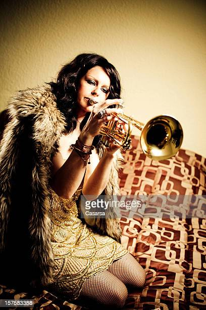 Girl with her trumpet