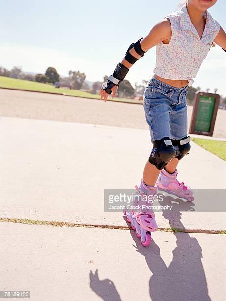 girl with inline skates - cut wrists stock pictures, royalty-free photos & images