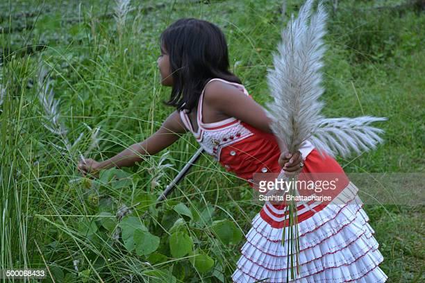 A girl with Kash phool