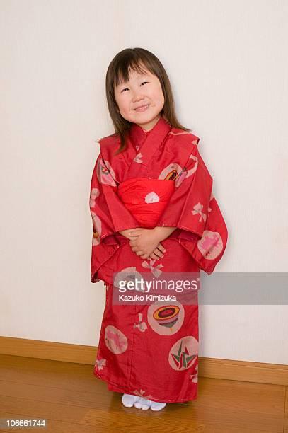 a girl with kimono - kazuko kimizuka stock-fotos und bilder