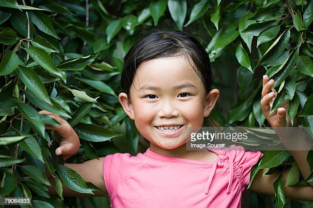 girl with leaves - all shirts stock pictures, royalty-free photos & images