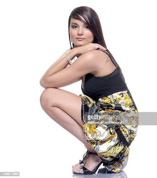 girl with long hair - tempio pausania stock-fotos und bilder