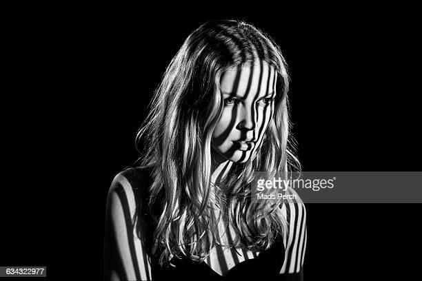 girl with moody lighting