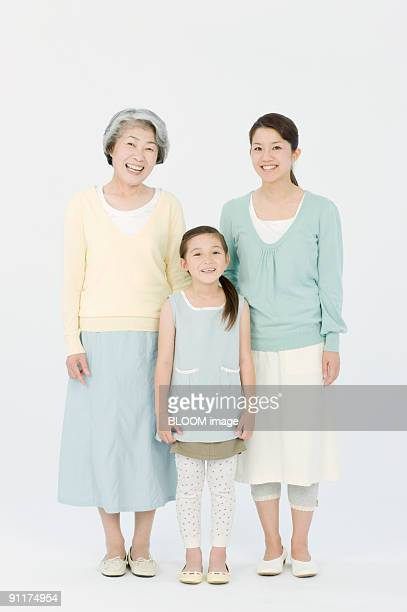 Girl with mother and grandmother