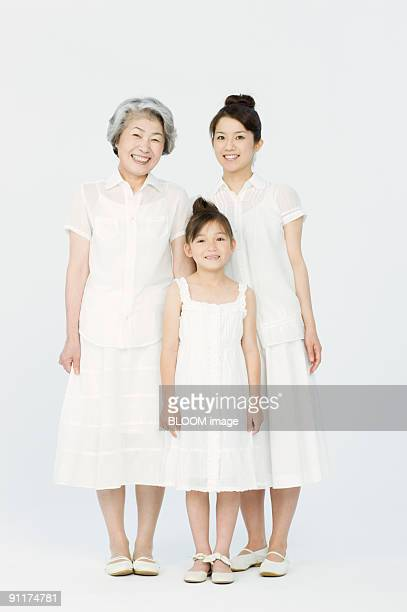 Girl with mother and grandmother, portrait