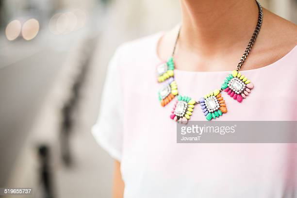 Girl with necklace