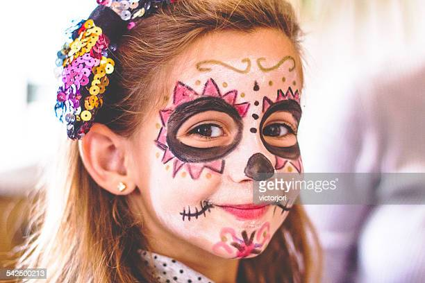 Girl (4-5) with painted face