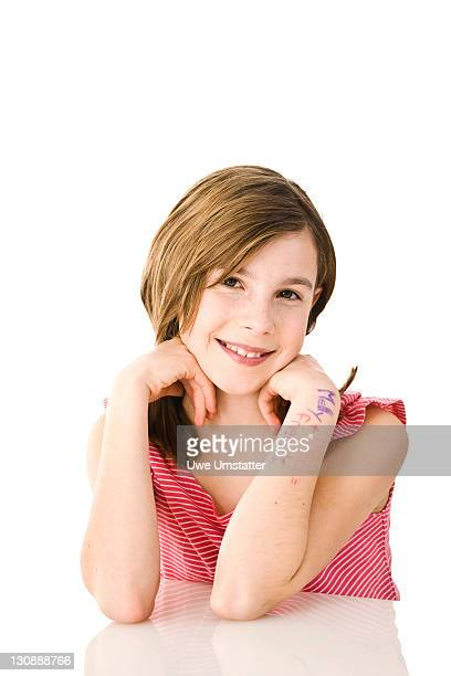 girl with pigtails - captions stock photos and pictures