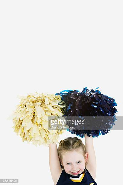 Girl with pompoms