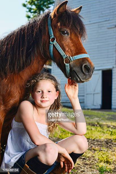girl with pony - hairy girl stock pictures, royalty-free photos & images