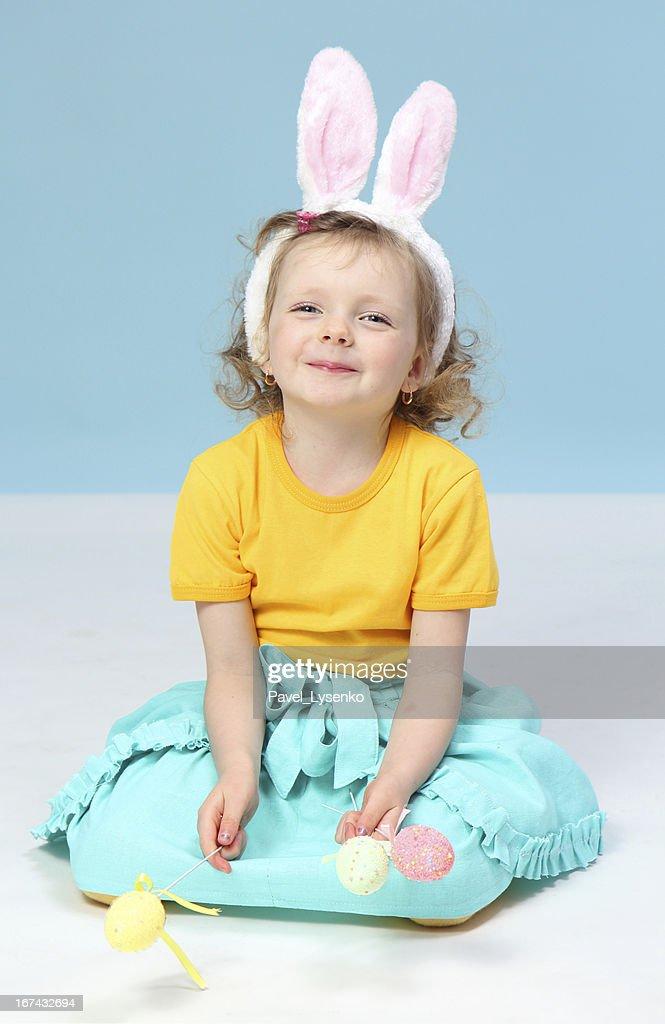 girl with rabbit ears : Stock Photo