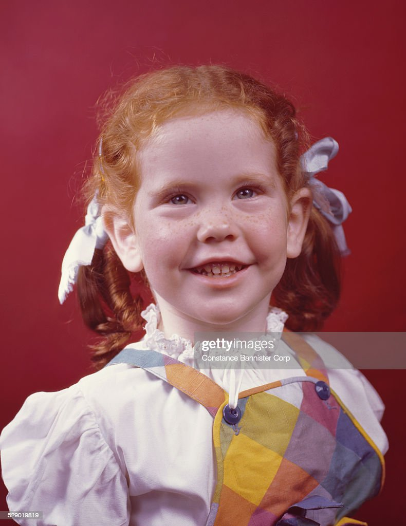 red hair pigtails