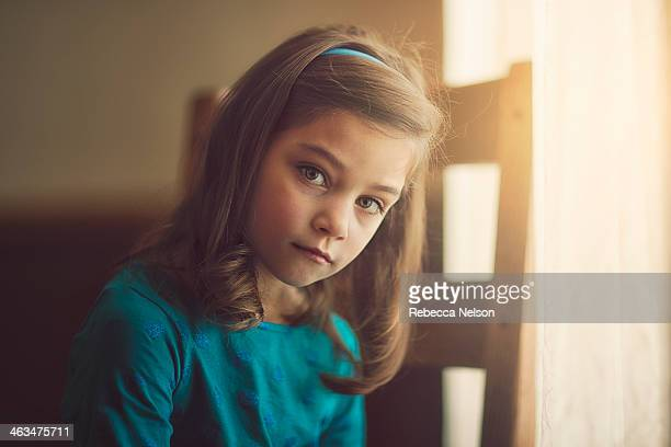 girl with serious expression