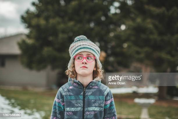 girl with silly worried expression - sioux falls stock pictures, royalty-free photos & images