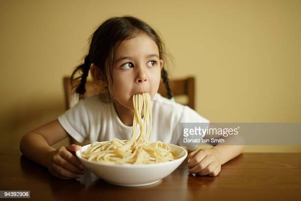 Girl with spaghetti