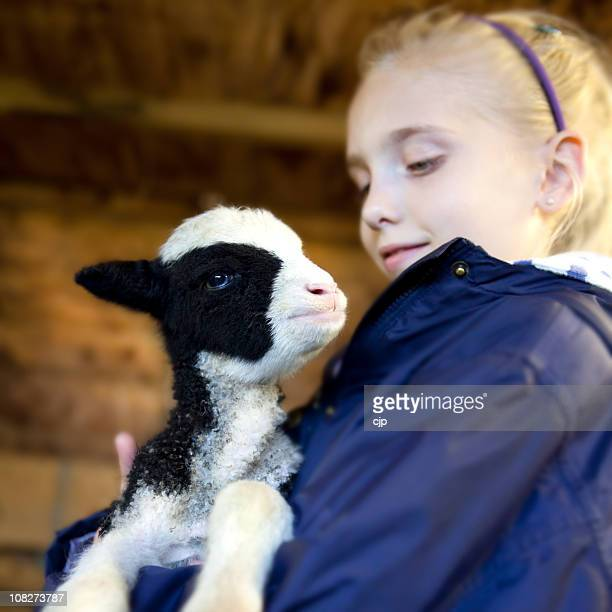 Girl With Spring Lamb