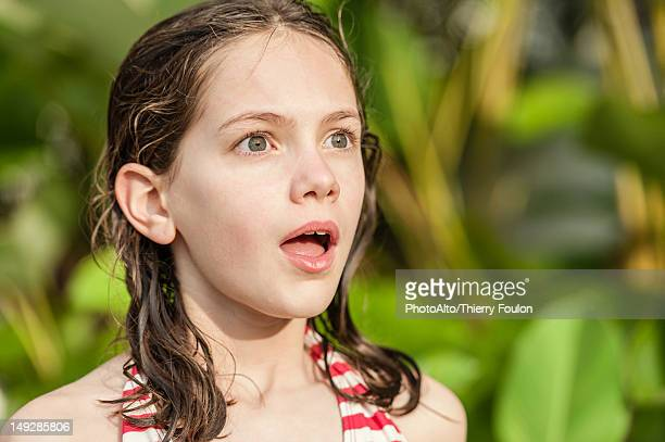 girl with surprised expression - staring stock photos and pictures
