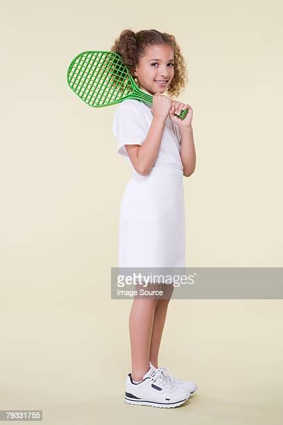 Girl with tennis racket