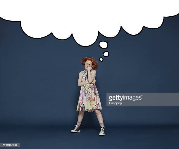 Girl with thought bubble