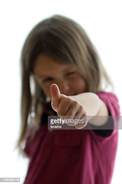 Girl with thumps up