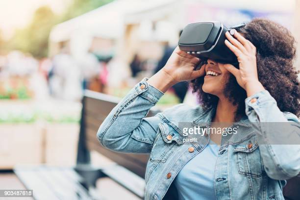 Girl with VR headset