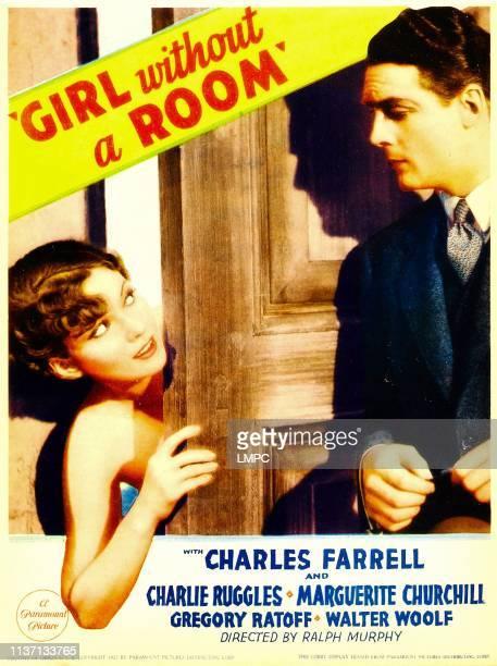 Marguerite Churchill Charles Farrell on midget window card 1933