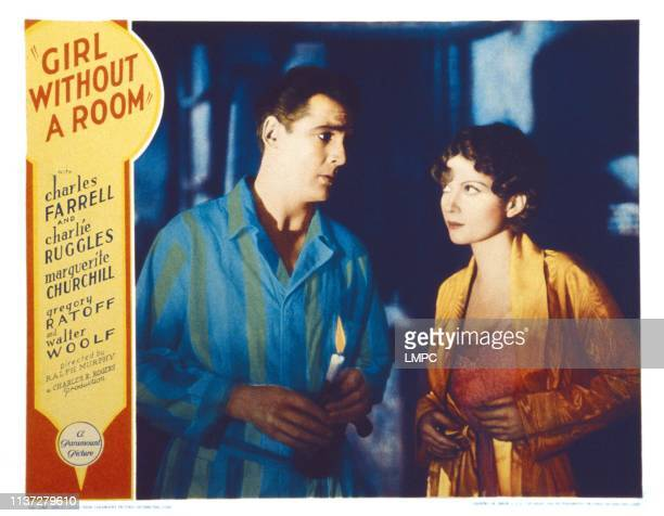 Girl Without A Room US lobbycard from left Charles Farrell Marguerite Churchill 1933