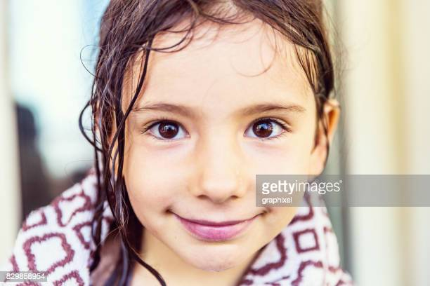 girl wrapped in towel - beautiful turkish girl stock pictures, royalty-free photos & images
