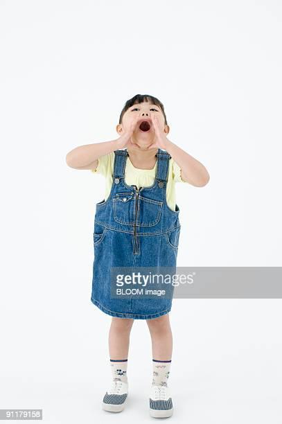 girl yelling - 4歳から5歳 ストックフォトと画像