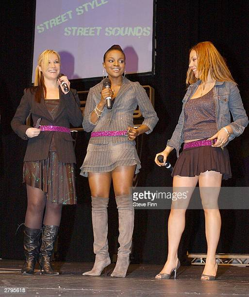 Girlband The Sugababes performs at the Clotheshow Live 2003 the world's largest consumer fashion and beauty show at the NEC on December 9 2003 in...
