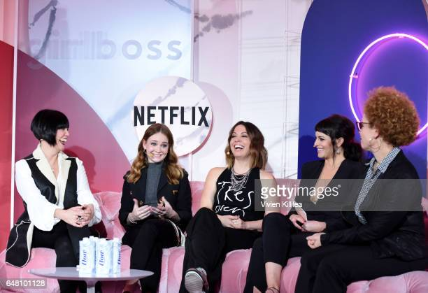Girlboss Executive Producer Laverne McKinnon actress Britt Robertson Girlboss Creator Kay Cannon Girlboss Founder and CEO Sophia Amoruso and Girlboss...
