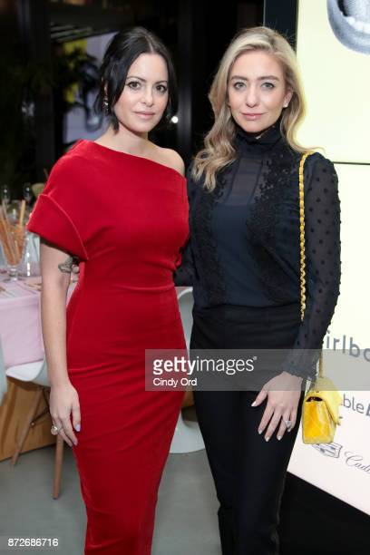 Girlboss Founder CEO Sophia Amoruso and Bumble Founder CEO Whitney Wolfe attend The Girlboss Founders' Dinner Hosted by Girlboss and Bumble Bizz on...