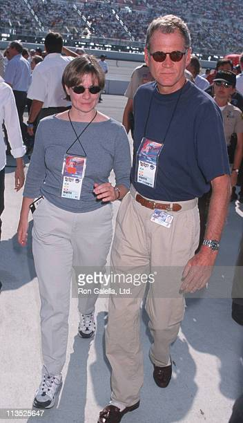 Girlfriend and David Letterman during Marlboro 500 Race Presented by Toyota at California Speedway in Ontario, California, United States.