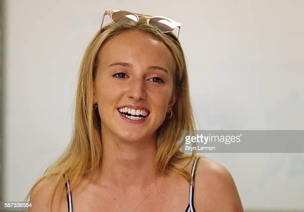 Girlfriend of Adam Peaty Anna Zair attends the Adam Peaty's family press conference on August 8 2016 in Rio de Janeiro Brazil