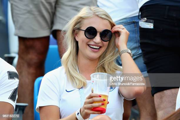 Girlfriend of Jack Butland of England Annabel Peyton looks on during the 2018 FIFA World Cup Russia group G match between England and Panama at...
