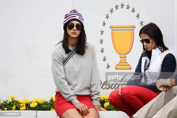 Girlfriend of Justin Thomas of the United States team Jillian Wisniewski and girlfriend of Rickie Fowler of the United States team Allison Stokke...