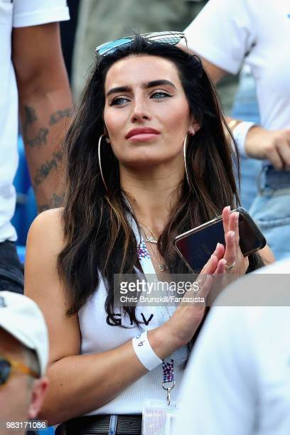 Girlfriend of Kyle Walker of England Annie Kilner looks on during the 2018 FIFA World Cup Russia group G match between England and Panama at Nizhny...