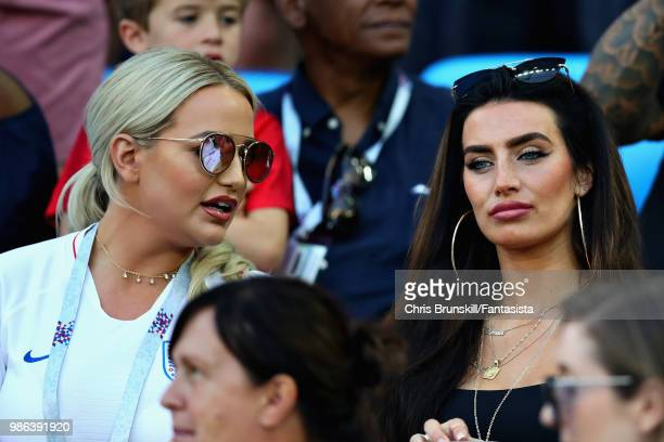 Girlfriend of Kyle Walker of England Annie Kilner looks on during the 2018 FIFA World Cup Russia group G match between England and Belgium at...
