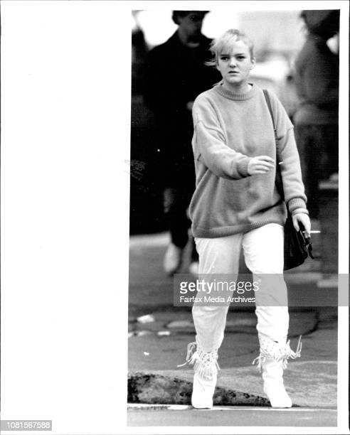 A girlfriend of one of the covicted men leaves courtPeople leave Darlinghurst Court after the Cobby Trial decisionNikki exgirlfriend of Leslie Murphy...
