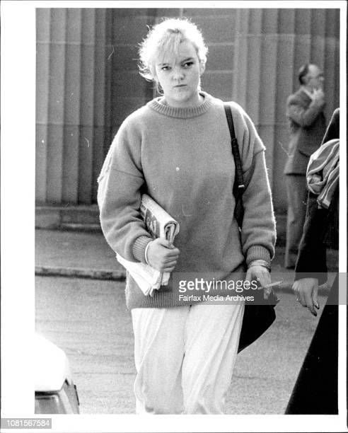 A girlfriend of one of the men sentanced today leaves the court Nikki friend of Leslie MurphyPeople leave Darlinghurst Court after the Cobby trial...