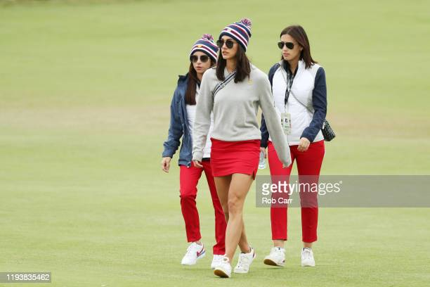 Girlfriend of Playing Captain Tiger Woods of the United States team, Erica Herman , girlfriend of Justin Thomas of the United States team, Jillian...
