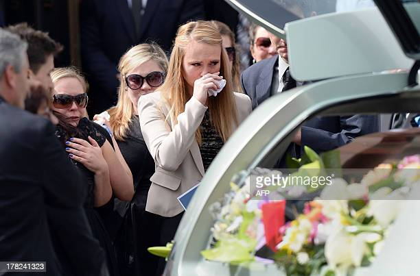 Girlfriend Sarah Harper joins family members of Australian baseball player Chris Lane who was killed in the small Oklahoma town of Duncan in the US...