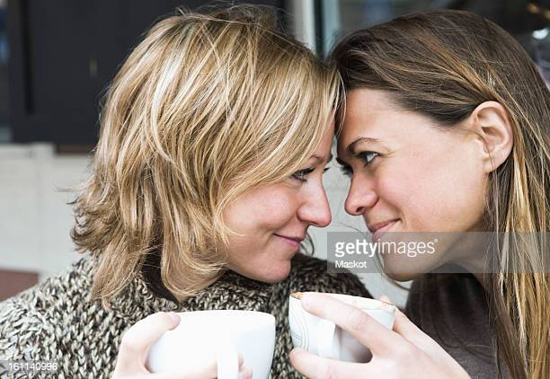 Girlfriends at coffeehouse